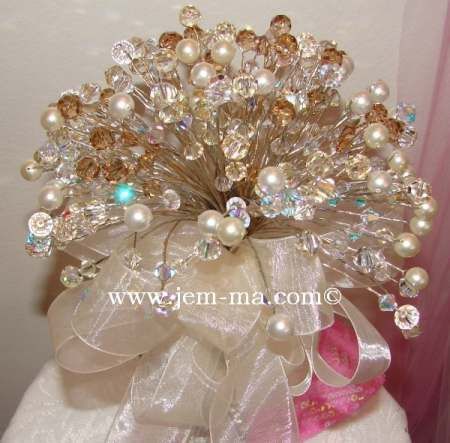 Pearl & Crystal Wedding Bouquet
