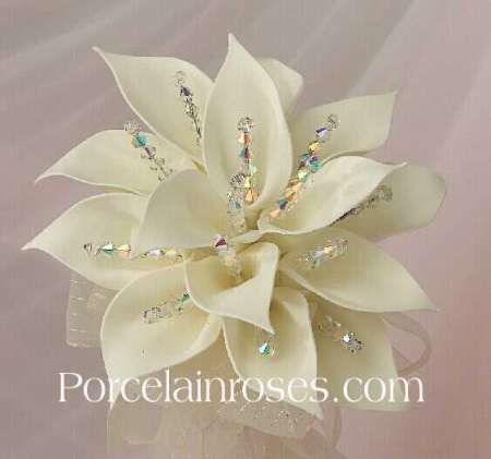 Silk Calla Lily Wedding Bouquets on Calla Lily Brides Bouquet By Porcelain Wedding Bouquets