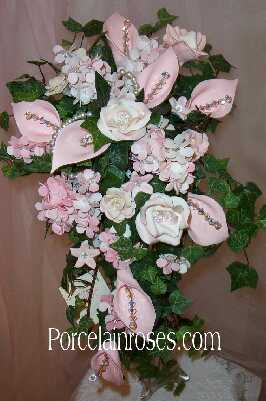 Assorted flower cascade bouquet