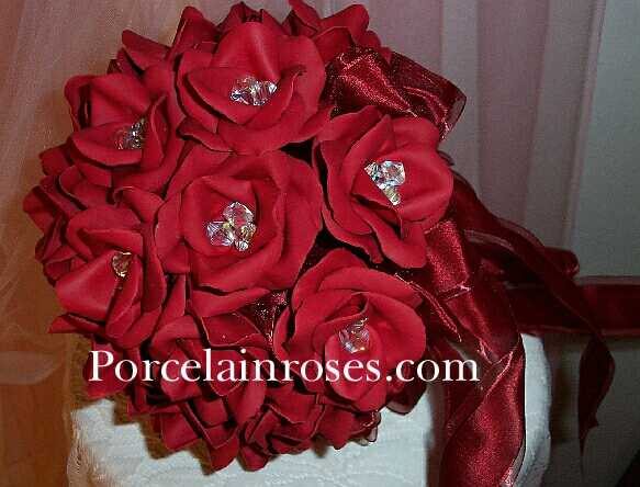 Red Rose Bouquet 75 Add 100 dark color fee