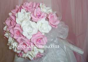 extra Large pink and white rose bouquet