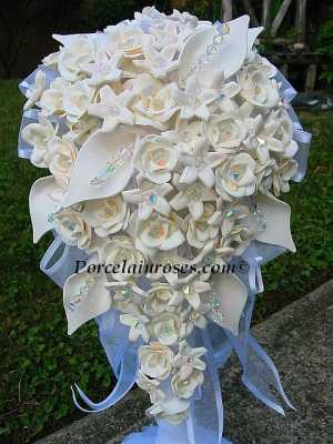 cascacade wedding bouquet