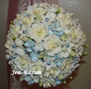 Ice Blue Wedding Bouquet
