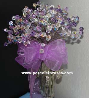 Lilac Crystal Bouquet